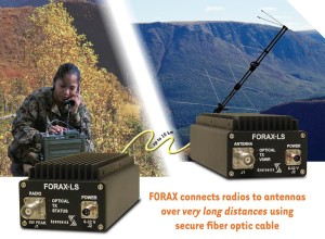 FORAX-LS connects radios to antennas over very long distances using secure fibre optic cable