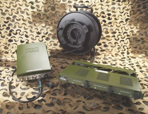 PPM Systems field deployable RF over fibre system in army green