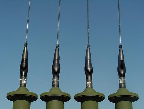 Four ARA Military Communication antennas