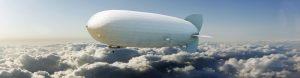 Airship flying