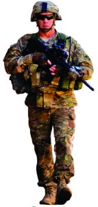 Armed soldier